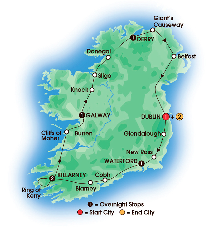 North And South Ireland Tours