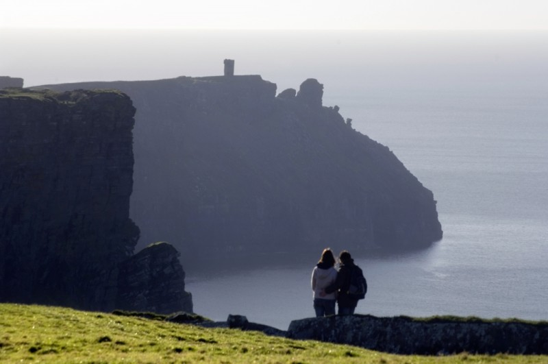 Couple at the cliffs