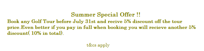 Golf Special offer July revised