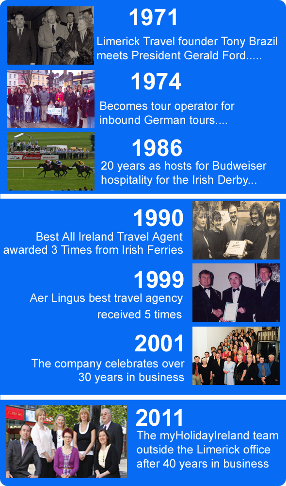 Company history - My holiday Ireland contact
