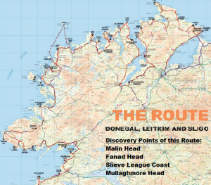 Map Of North West Ireland.North West Route Map Crop My Holiday Ireland